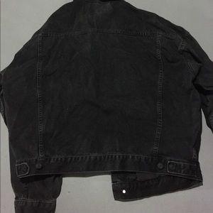 ASOS Jackets & Coats - Asos Oversized Black Washed Denim Jacket